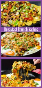 Collage pictures of our Breakfast Brunch Nachos
