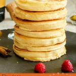 Bubbly Pancakes image for pinterest