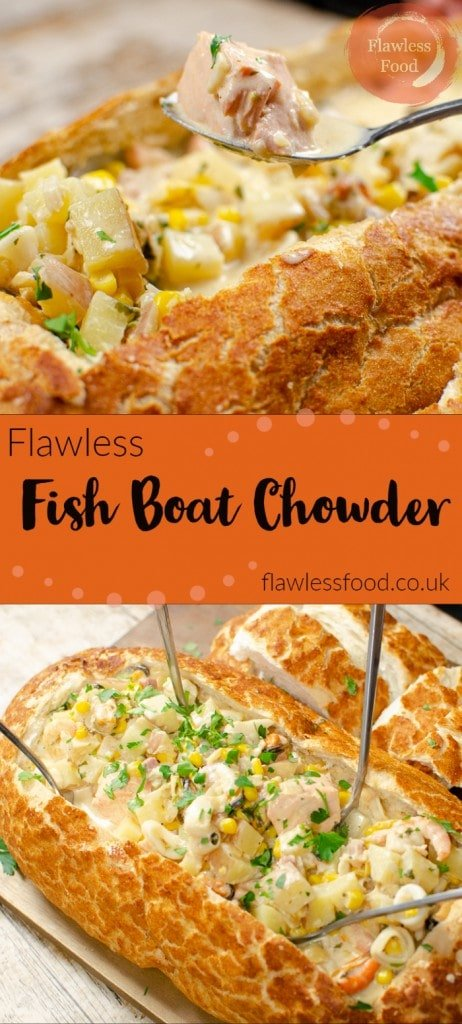 Fish chowder in a bread boat images for pinterest
