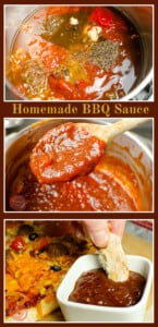 Collage of pictures of our Homemade BBQ Sauce