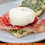Italian Styled Eggs Benedict image for pinterest