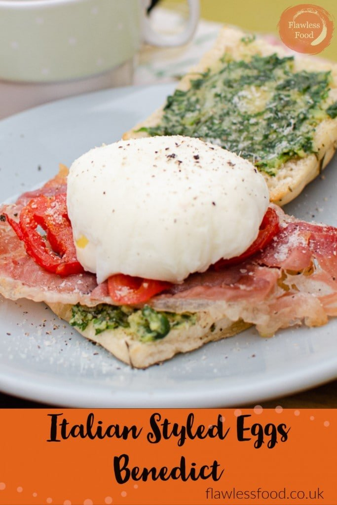 Eggs Benedict image for pinterest