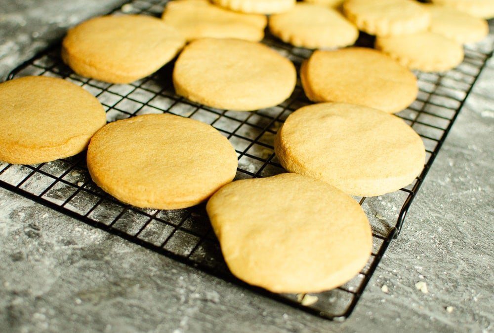 biscuits cooling on wire rack