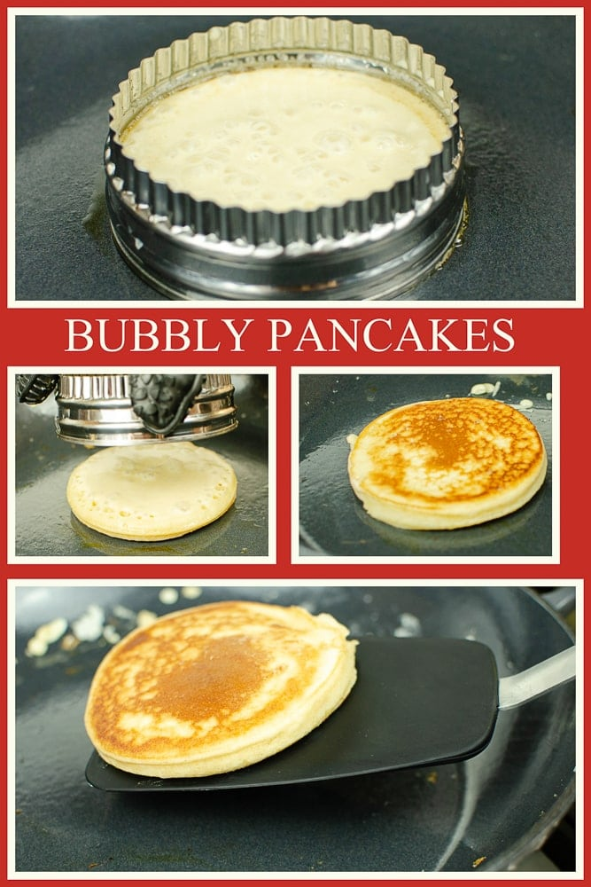 Collage pictures of how our Bubbly Pancakes have been made