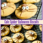 Collage of our Cute Spider Halloween biscuits