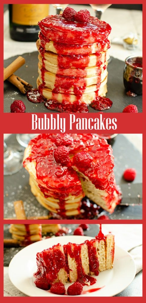 Collage pictures of our Bubbly Pancakes