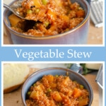Quinoa Vegetable stew pinterest picture