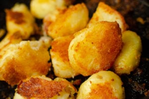 Flawless Roast potatoes on a baking tray