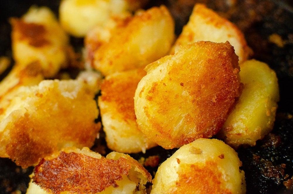 Flawless Roast potatoes on a baking tray