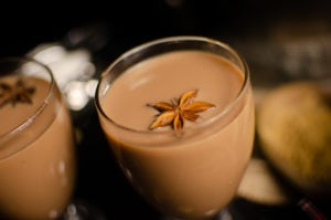 Easy tea masala in a glass with star anise