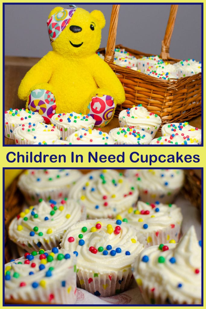 Collage of our children in need cupcakes