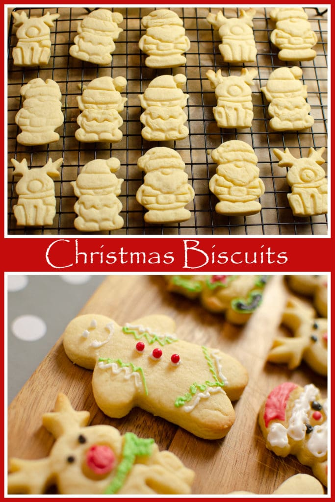 Collage pictures of our Iced Christmas Biscuits