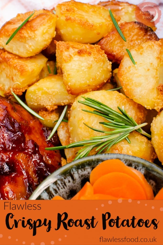 Roast potatoes image for pinterest