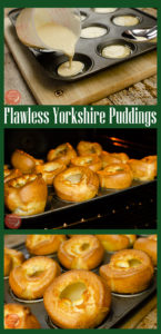 Collage pictures of our Flawless Yorkshire puddings pinterest picture