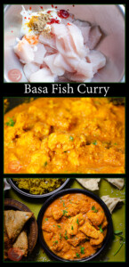 Collage pictures of our Basa Fish Curry