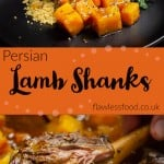 Collage pictures of our Persian Lamb Shanks