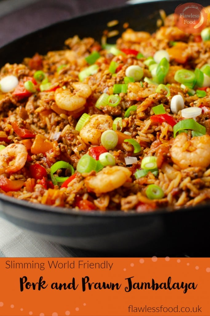 Pork and Prawn Jambalaya pinterest picture