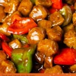 Textured vegetable protein Vegan Kung Pao image for pinterest