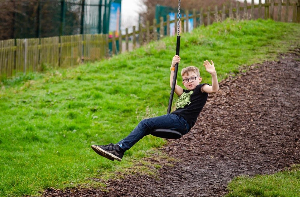 Zip wire at barleylands