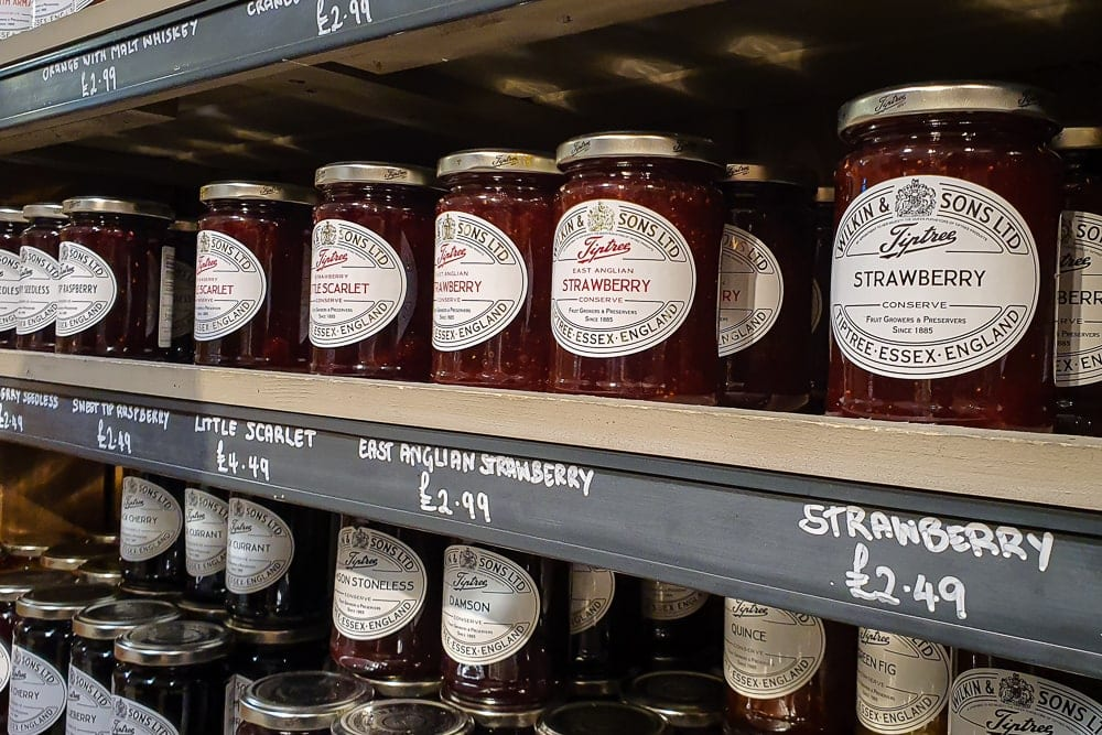Tiptree Strawberry Jam on shelf