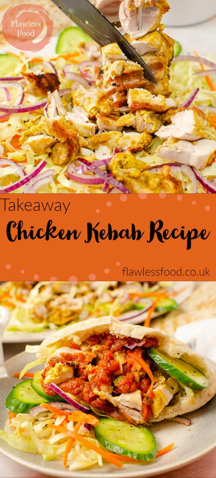 Collage of pictures of our Takeaway Chicken Kebab Recipe
