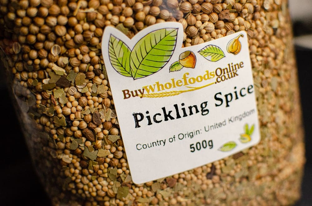 A bag of pickling spice mix