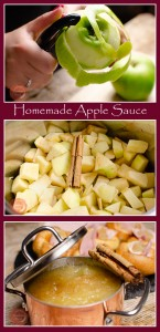Collage pictures of our Homemade Apple Sauce