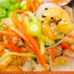Honey and Garlic Prawn Poke Bowl image for pinterest