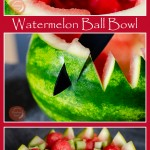 Collage pictures of our Watermelon Ball Bowl