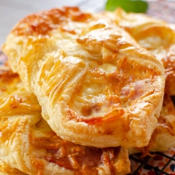 Flawless cheese and bacon turnovers