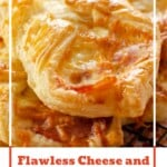 Pin image of our Flawless Cheese and Bacon Turnovers