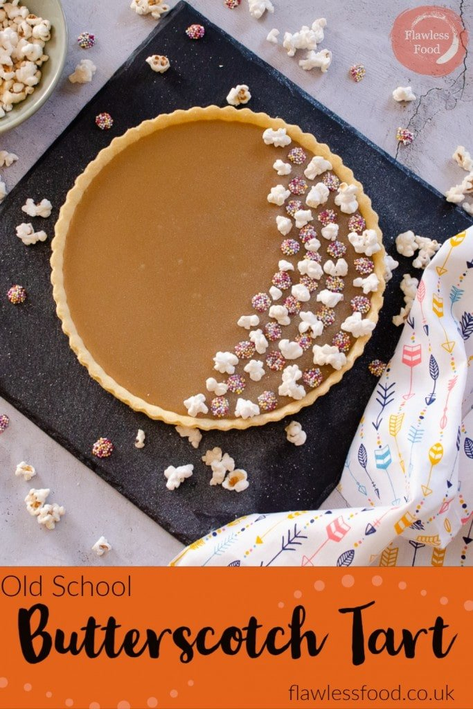 Old School Butterscotch tart?! I have fond memories of this fantastic rich sticky, butterscotch tart