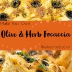 Olive & Herb Focaccia pinterest picture