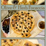 Collage pictures of our Olive Focaccia Bread