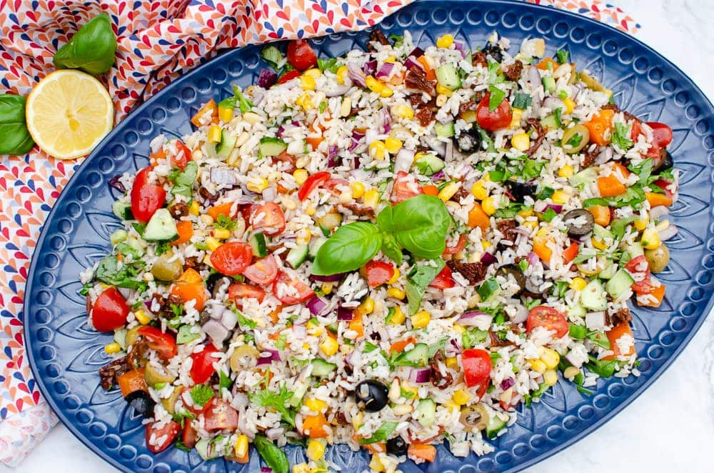 Italian Style Rice Salad - Easy to make by Flawless Food