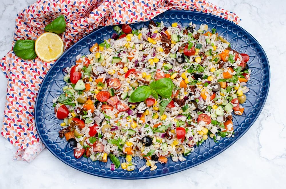 Italian Style Rice Salad Easy To Make By Flawless Food