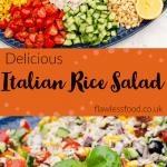 pin image for italian rice salad