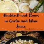 pin image for Haddock and clam in garlic and white wine sauce