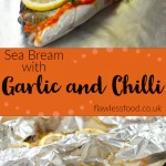 Collage pictures of our Sea Bream with Garlic and Chilli for pinterest