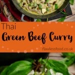 Thai Green beef curry pinterest images
