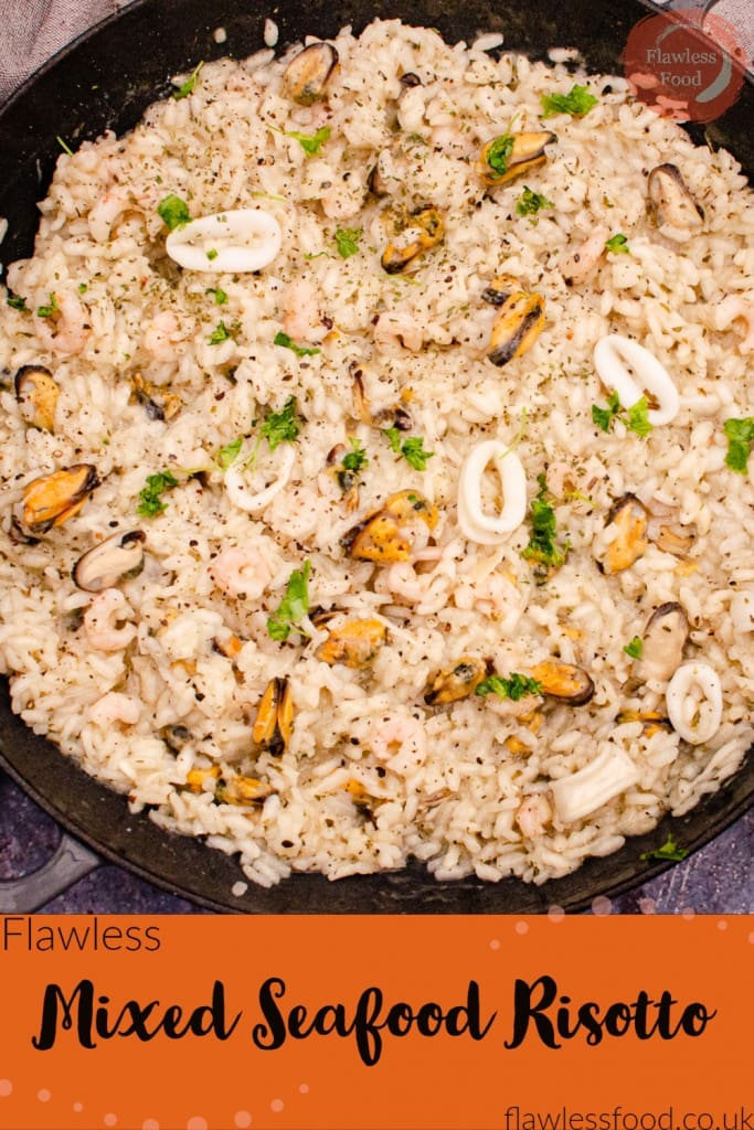 Mixed Seafood Risotto image for pinterest