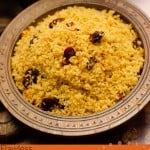 Persian Saffron Couscous image for pinterest