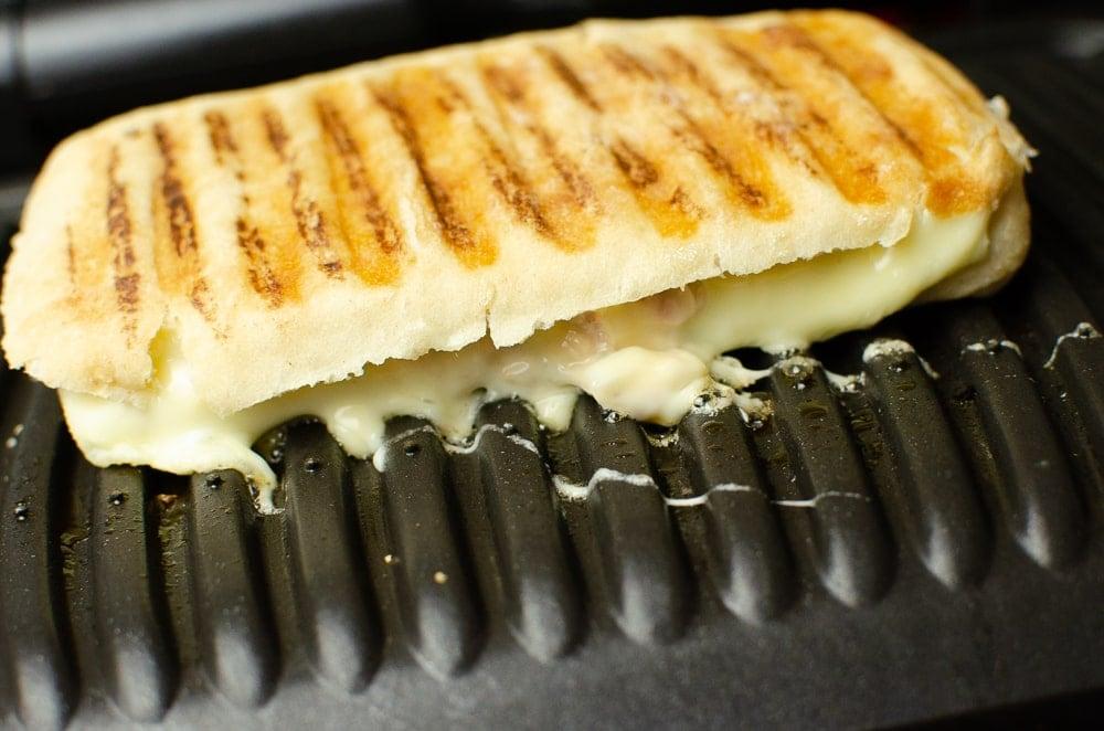 Tuna cheese cibatta cooked on the opti grill