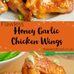 Honey and Garlic Chicken wing for pin
