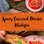Air- Fryer Spicy Curried Potato Wedges images for pinterest