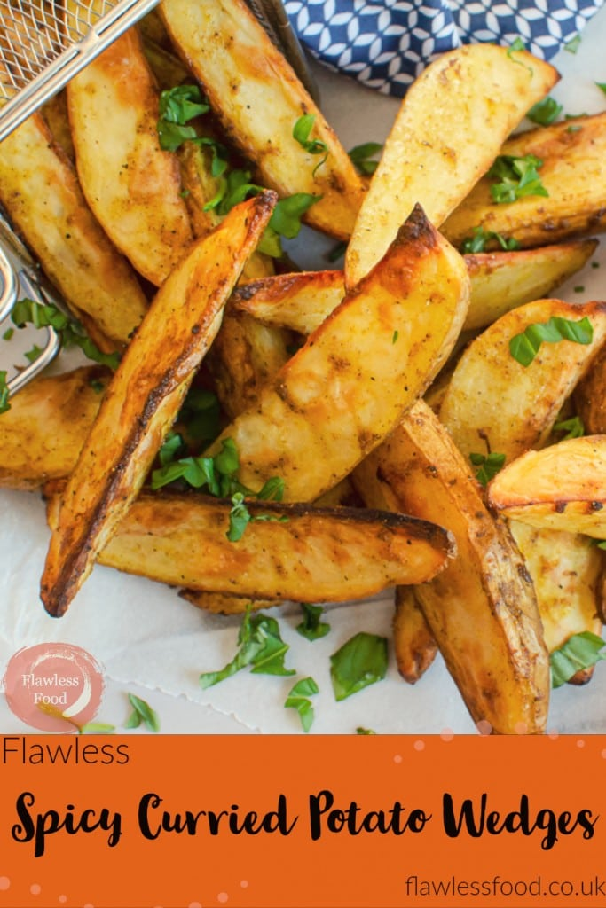 Spicy Curried Potato Wedges image for pinterest