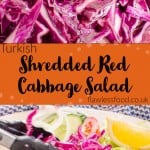 Images of red cabbage and red cabbage on salad for pinterest