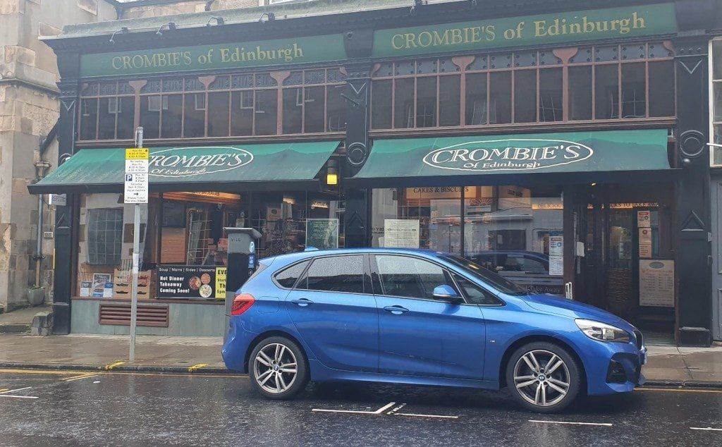 A picture of Crombie's of Edinburgh, where we got out traditional Haggis