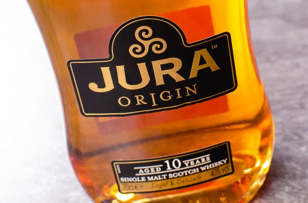 A bottle of Jura Scotch Whisky