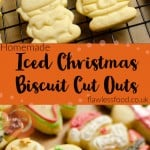 Pinterest Images of our Iced Christmas Biscuit Cut Outs of gingerbread men ,Santa Claus and elf's decorated with green,red, black and white icing
